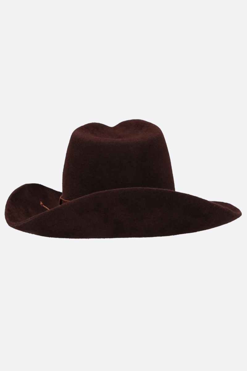 RUSLAN BAGINSKIY: felt cowboy hat Color Brown_3