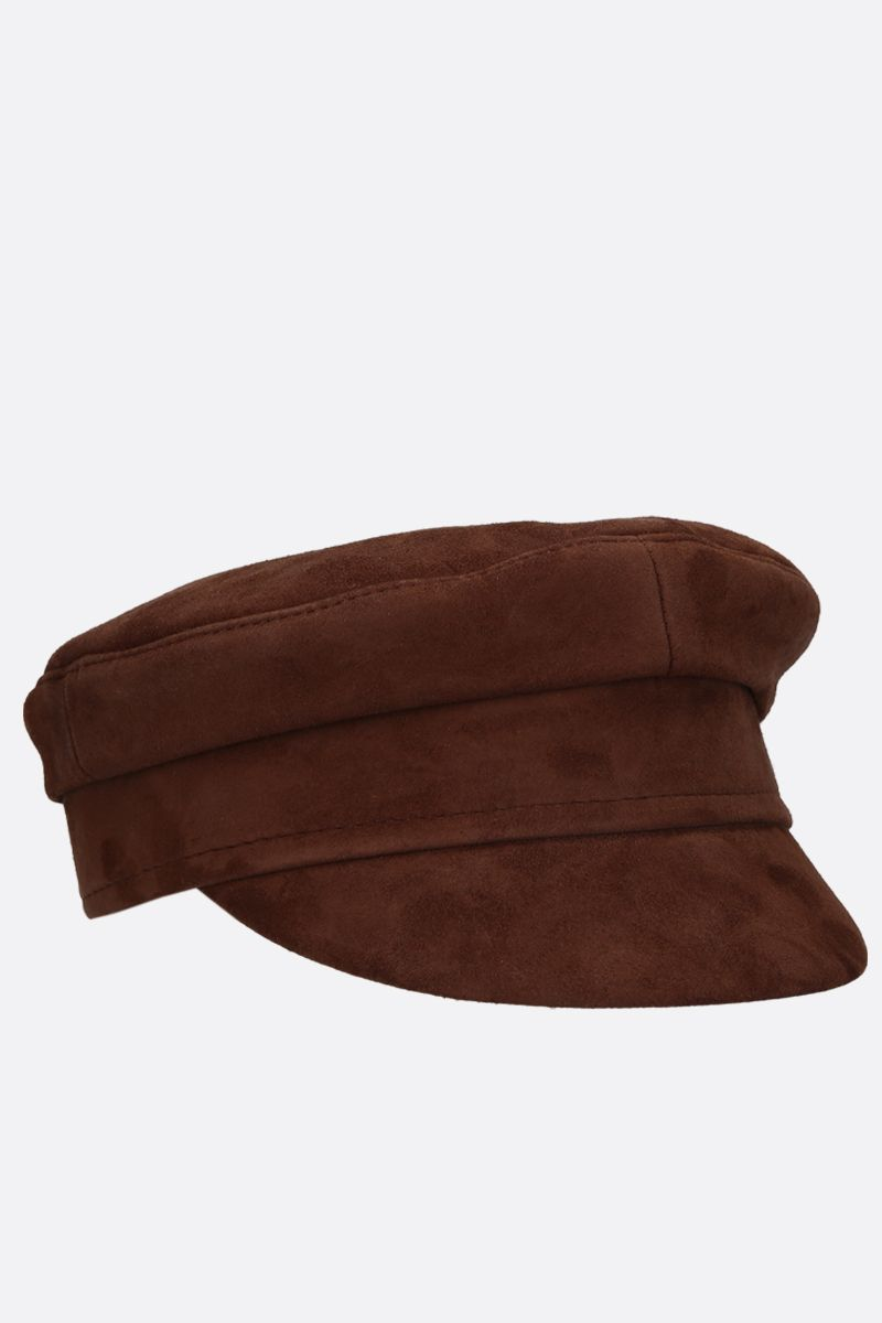 RUSLAN BAGINSKIY: suede baker boy cap Color Brown_2