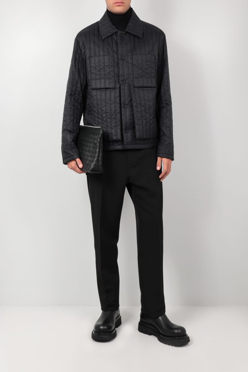 CRAIG GREEN: quilted nylon overshirt Color Black_2