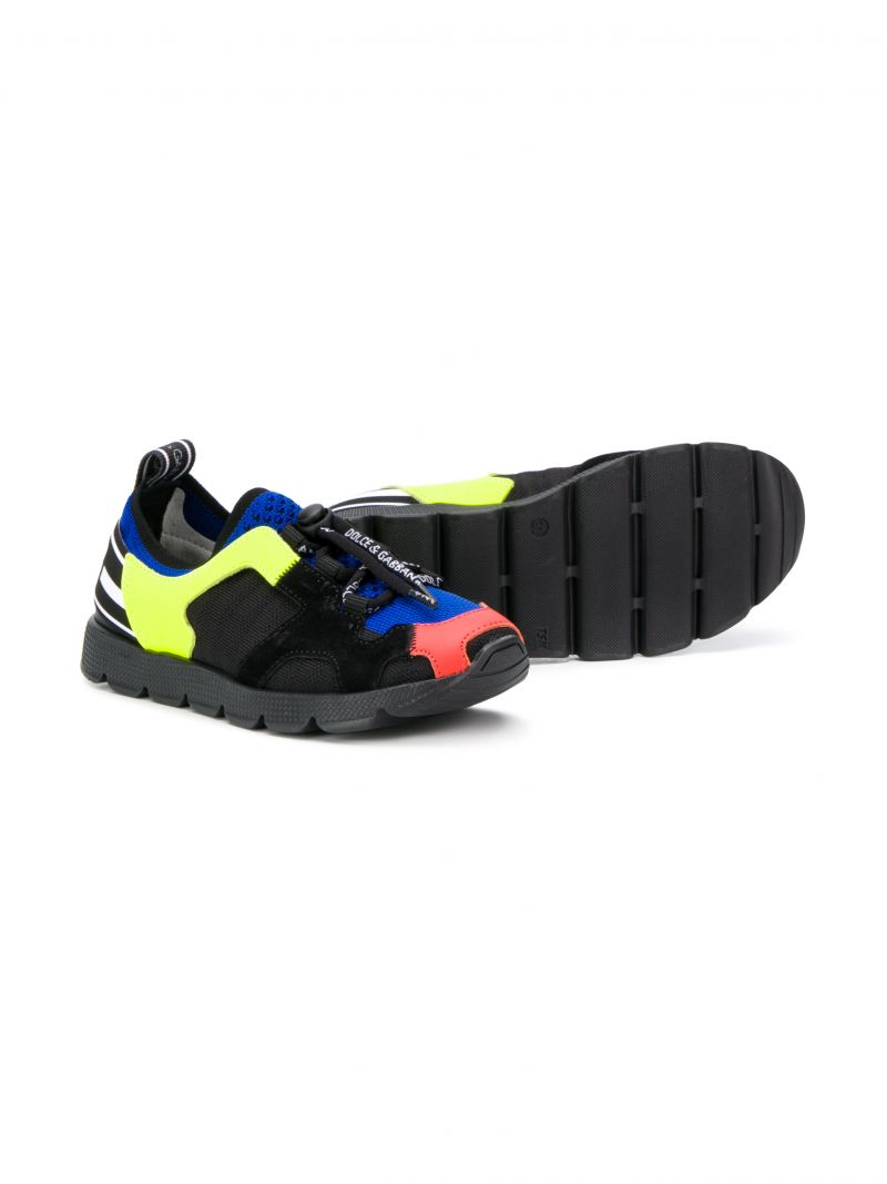 DOLCE & GABBANA CHILDREN: Sorrento sneakers in stretch knit Color Multicolor_2