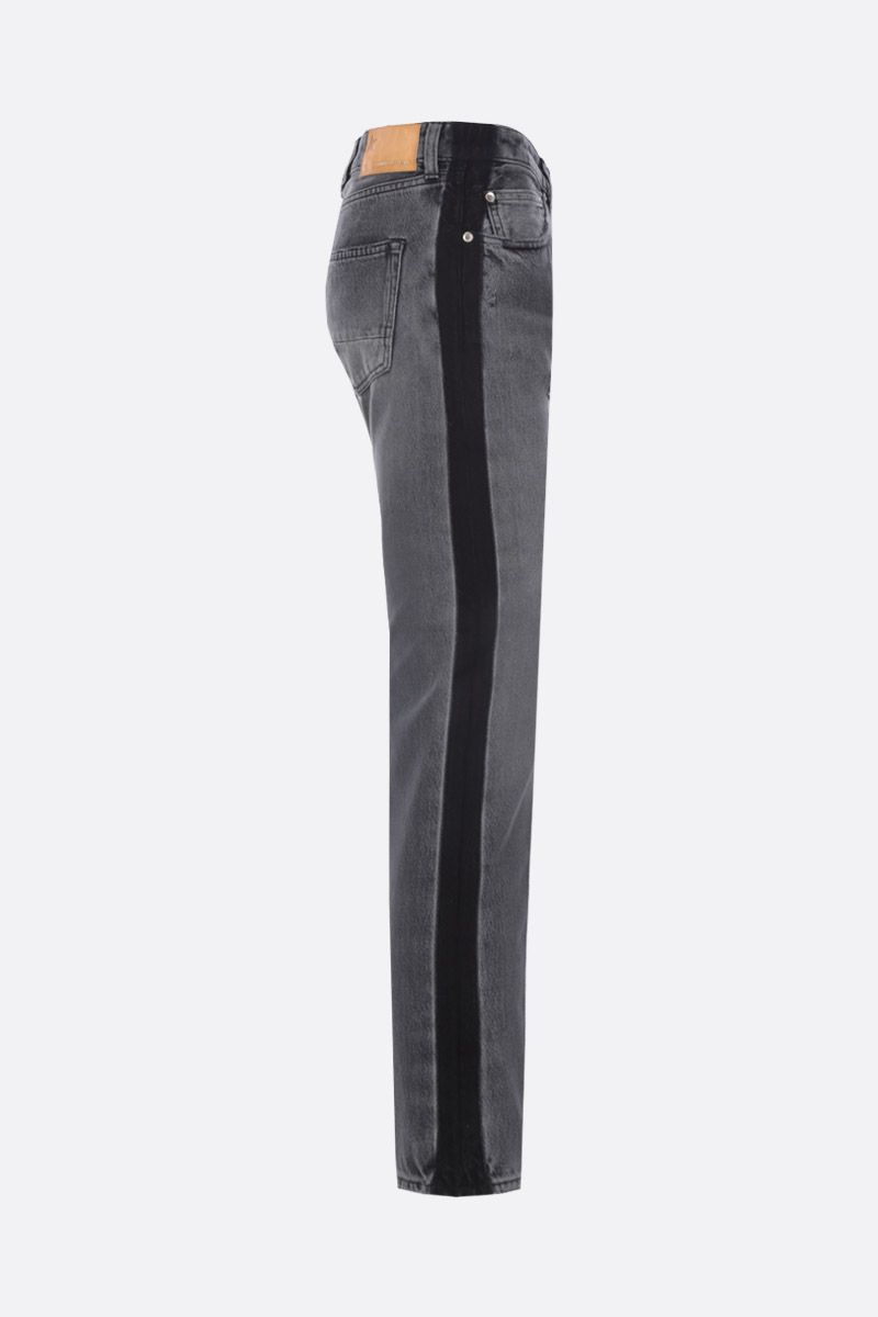 GOLDEN GOOSE DELUXE BRAND: Jolly slim-fit jeans with contrasting bands Color Black_2