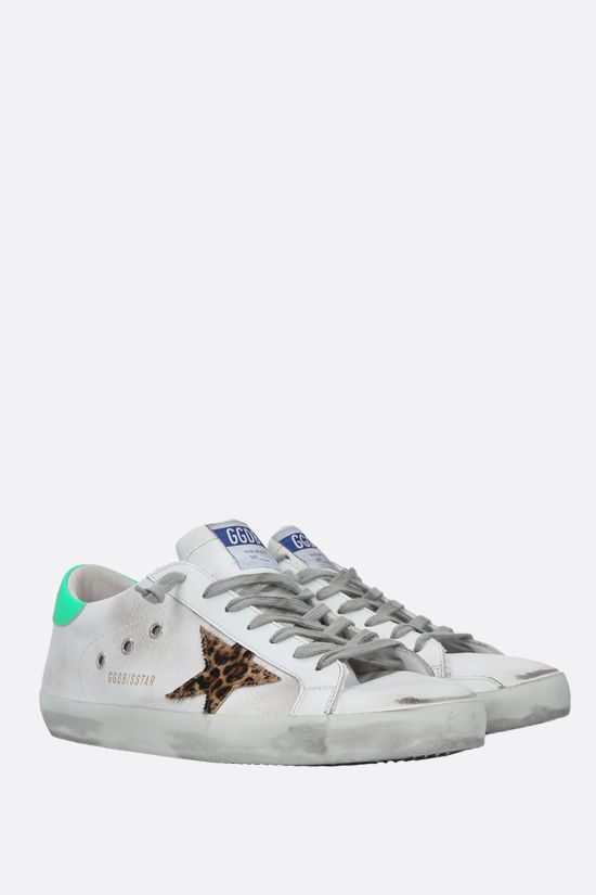 GOLDEN GOOSE DELUXE BRAND: Superstar smooth leather and canvas sneakers Color Multicolor_2