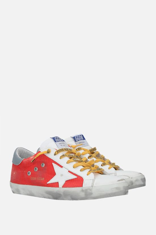 GOLDEN GOOSE DELUXE BRAND: Superstar smooth leather and nylon sneakers Color Multicolor_2