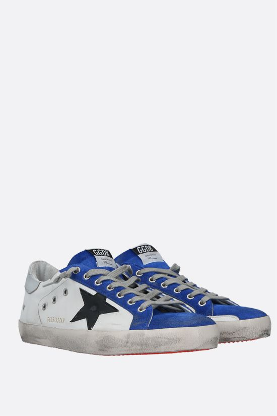 GOLDEN GOOSE DELUXE BRAND: Superstar smooth leather and suede sneakers Color White_2