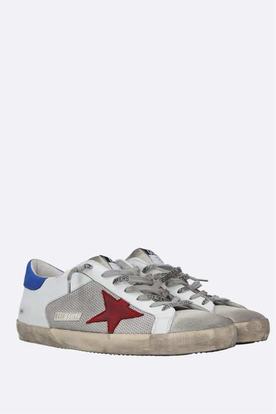 GOLDEN GOOSE DELUXE BRAND: Superstar sneakers in smooth leather, fabric and suede Color Multicolor_2