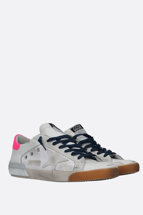 GOLDEN GOOSE DELUXE BRAND: Superstar smooth leather and ripstop fabric sneakers Color White_2