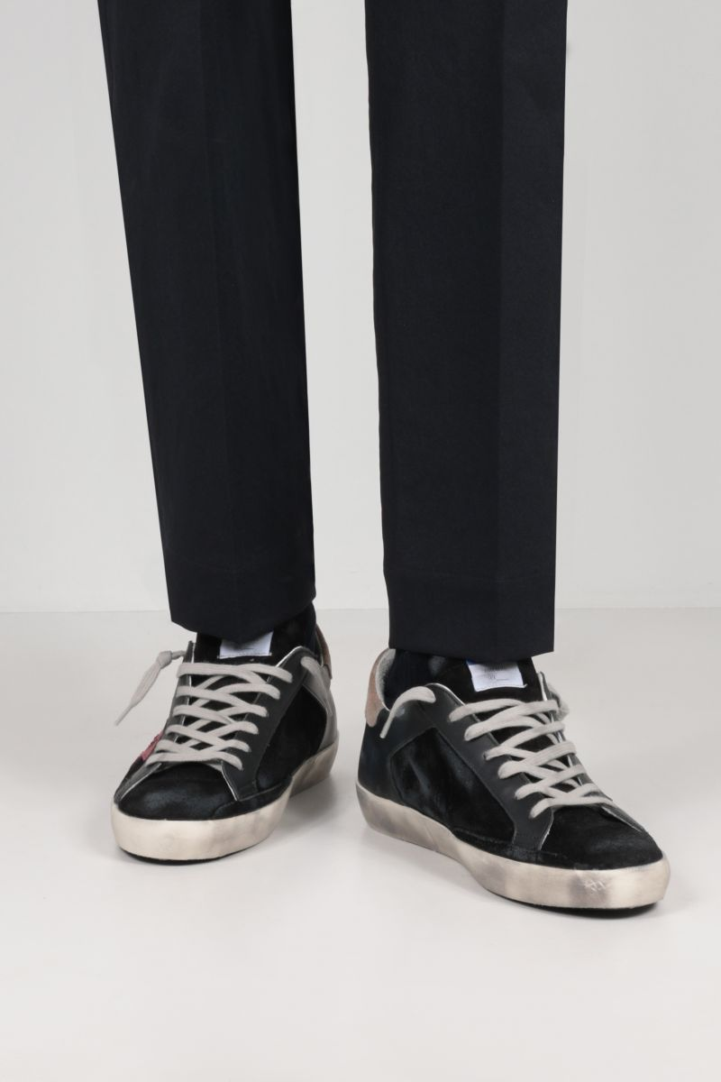 GOLDEN GOOSE DELUXE BRAND: Superstar smooth leather and suede sneakers Color Multicolor_2