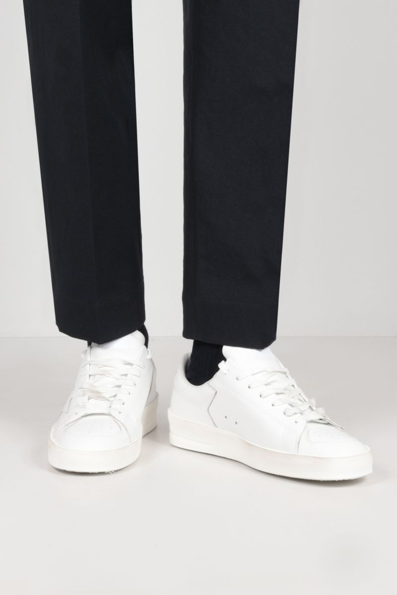 GOLDEN GOOSE DELUXE BRAND: Stardan smooth leather sneakers Color White_2