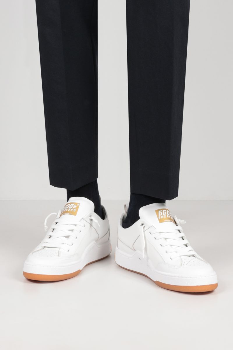 GOLDEN GOOSE DELUXE BRAND: Yeah smooth leather sneakers Color White_2