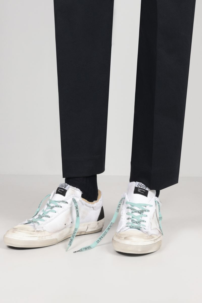 GOLDEN GOOSE DELUXE BRAND: Superstar canvas sneakers Color White_2