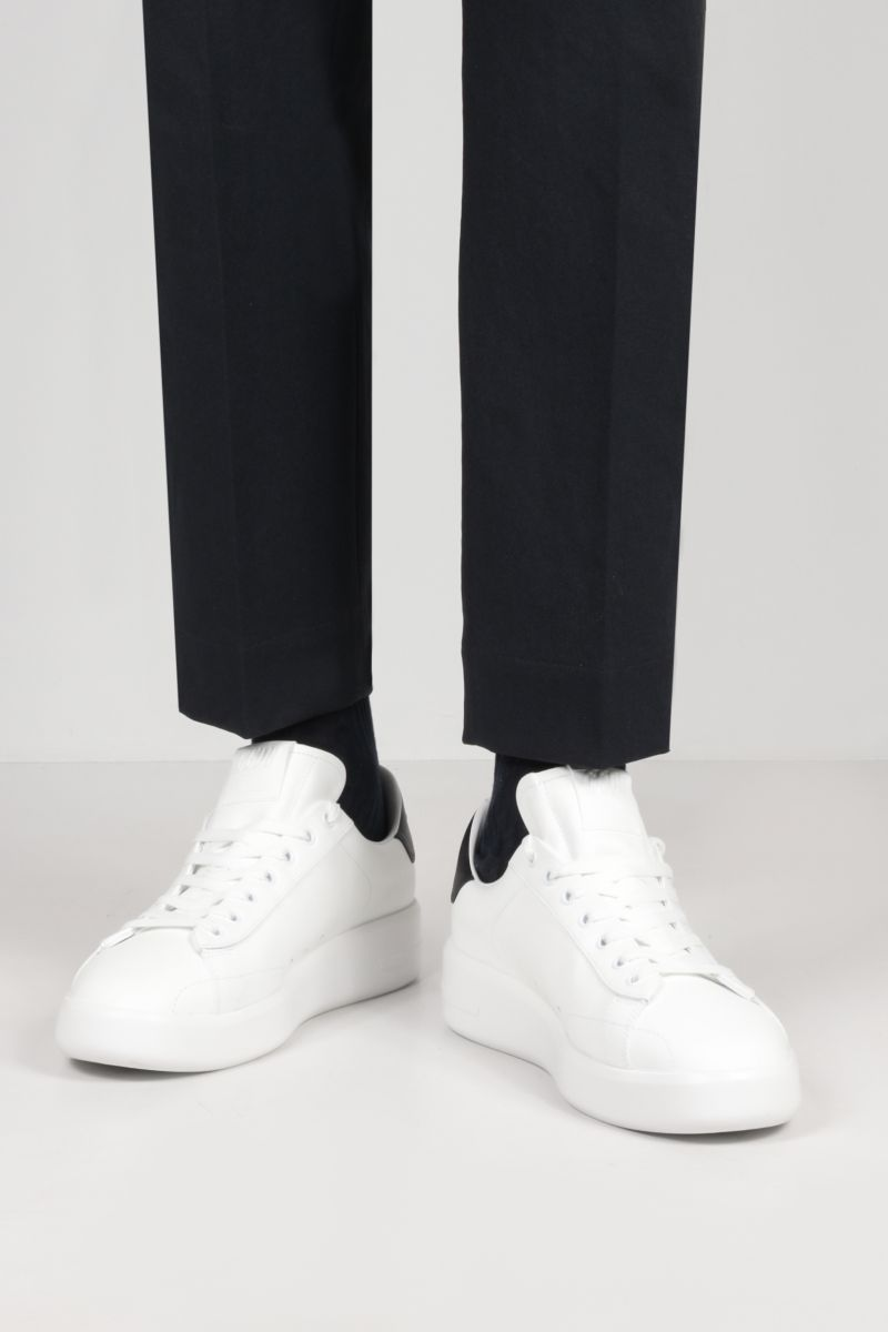 GOLDEN GOOSE DELUXE BRAND: Purestar smooth leather sneakers Color White_2