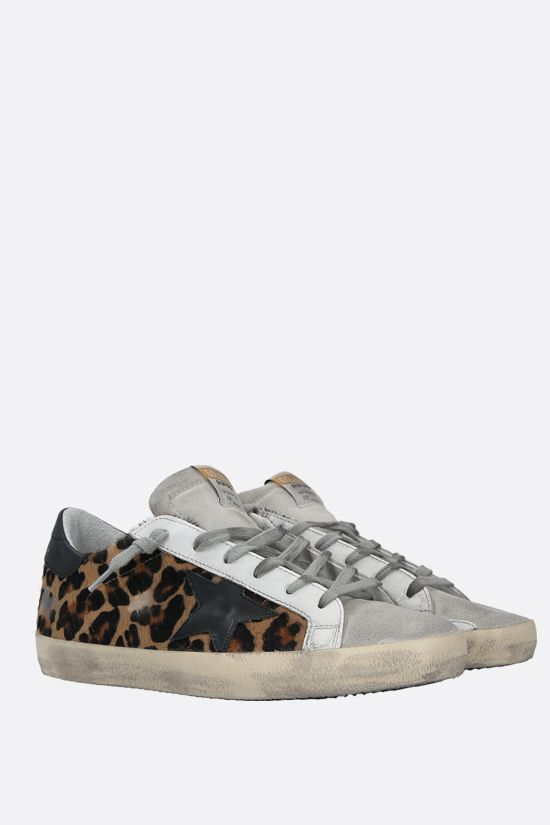 GOLDEN GOOSE DELUXE BRAND: Superstar calf hair and suede sneakers Color Animalier_2