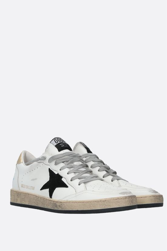 GOLDEN GOOSE DELUXE BRAND: Ball Star smooth leather sneakers Color White_2