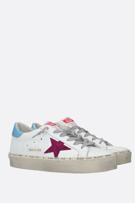 GOLDEN GOOSE DELUXE BRAND: Hi Star smooth leather flatform sneakers Color Multicolor_2