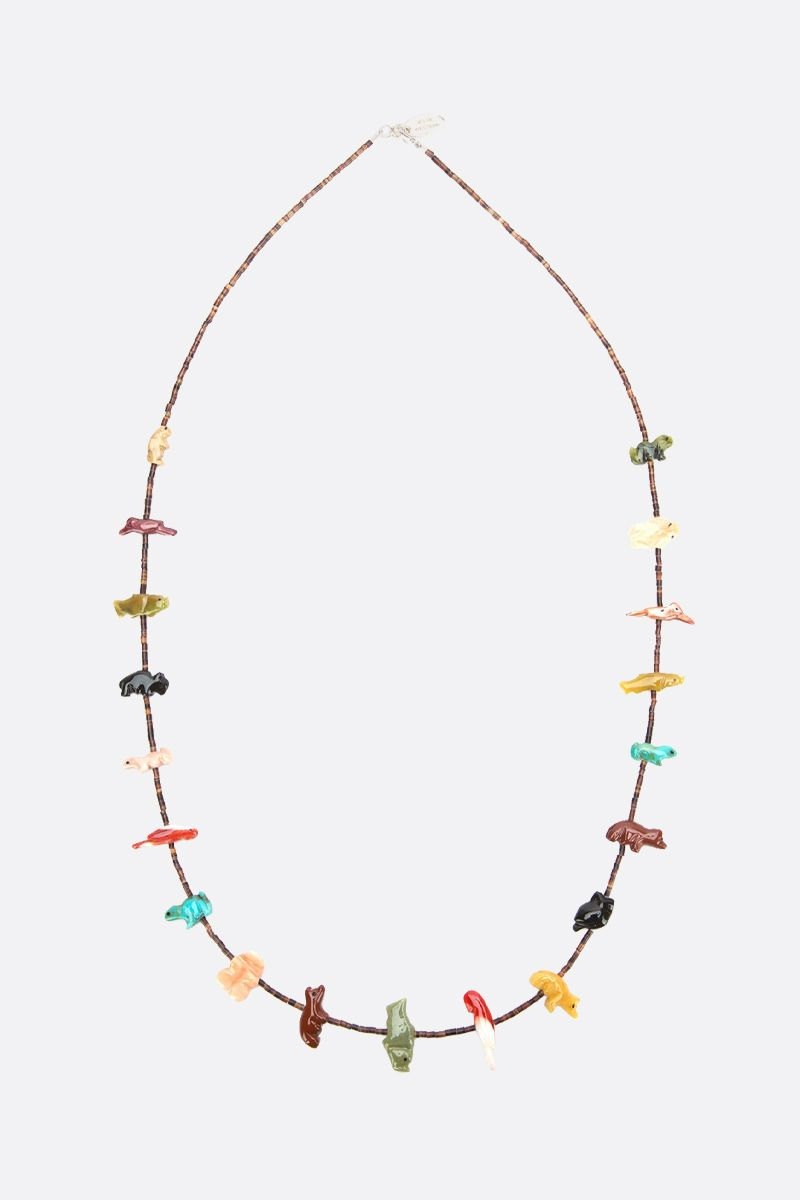 JESSIE WESTERN: Power Animal necklace in sterling silver with gemstones Color Multicolor_1