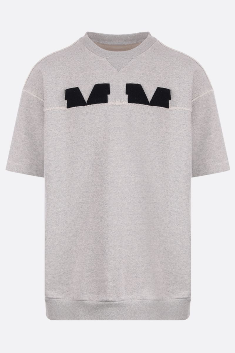 MAISON MARGIELA: MM patch cotton short-sleeved sweatshirt Color Grey_1