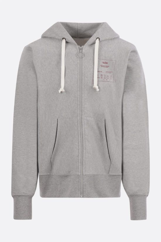 MAISON MARGIELA: 1CON full-zip cotton hoodie Color Grey_1