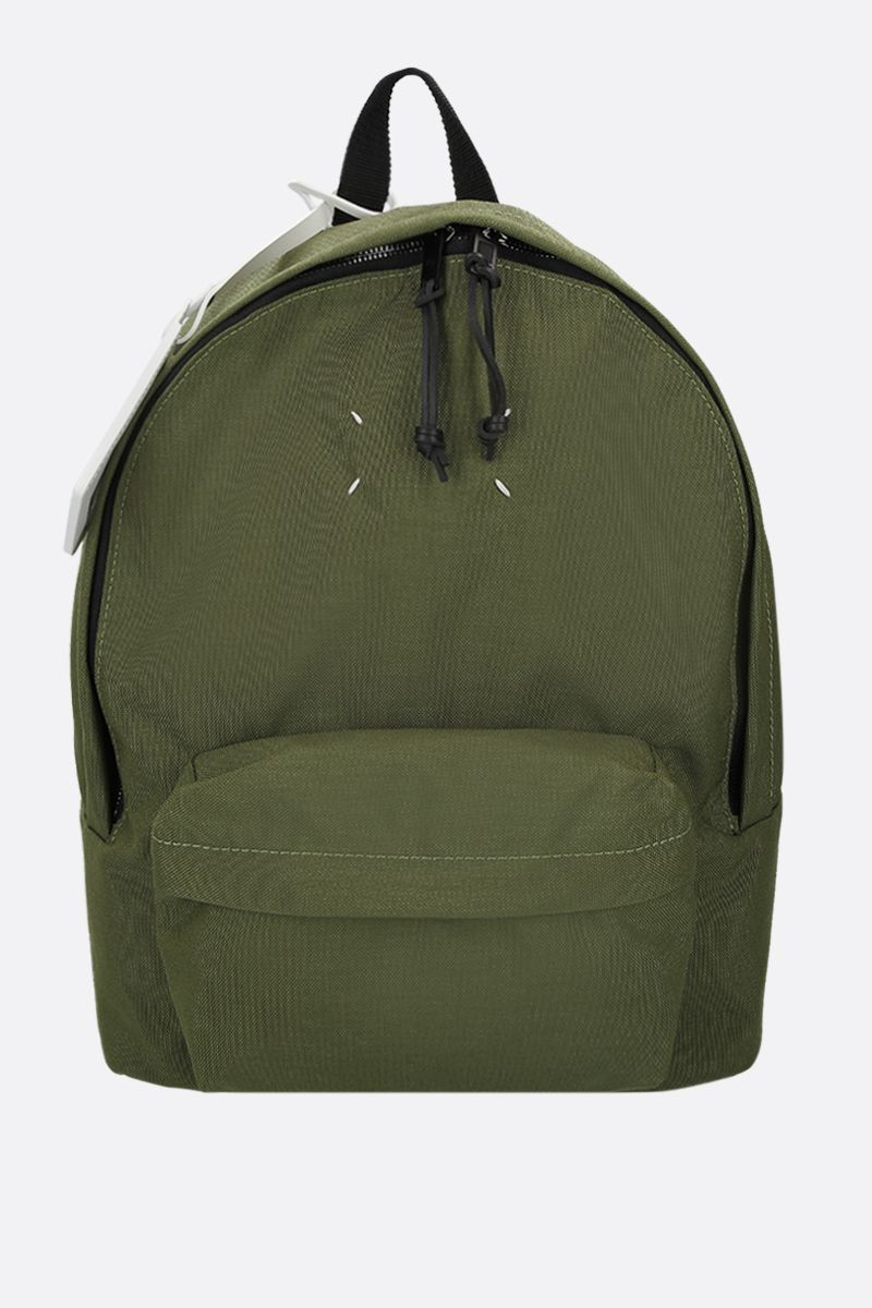 MAISON MARGIELA: logo badge-detailed nylon backpack Color Green_1