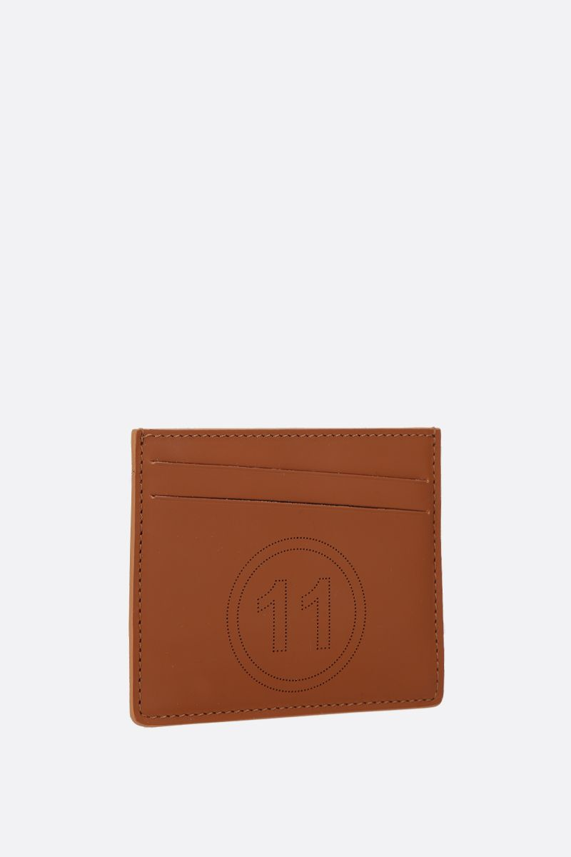 MAISON MARGIELA: smooth leather card holder Color Brown_2