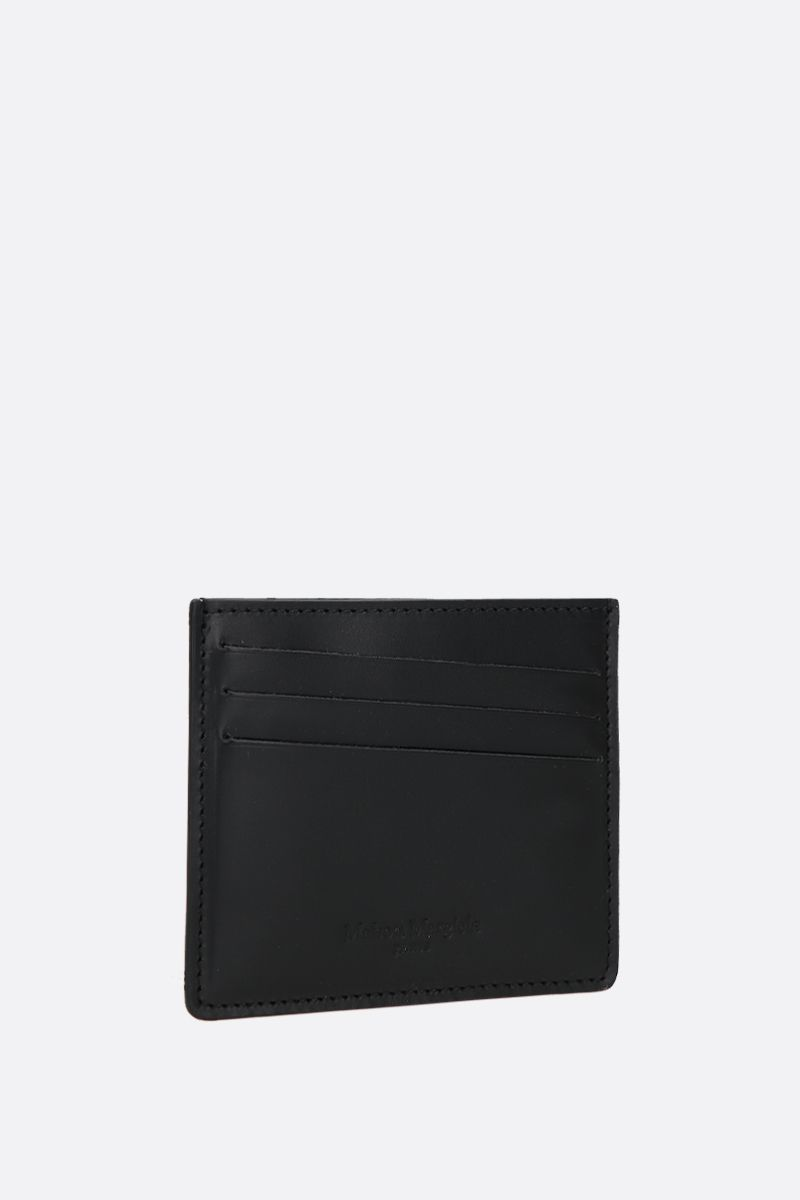 MAISON MARGIELA: smooth leather card case Color Black_2