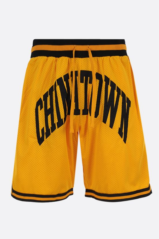 CHINATOWN MARKET: pantalone corto Smiley in mesh Colore Giallo_1