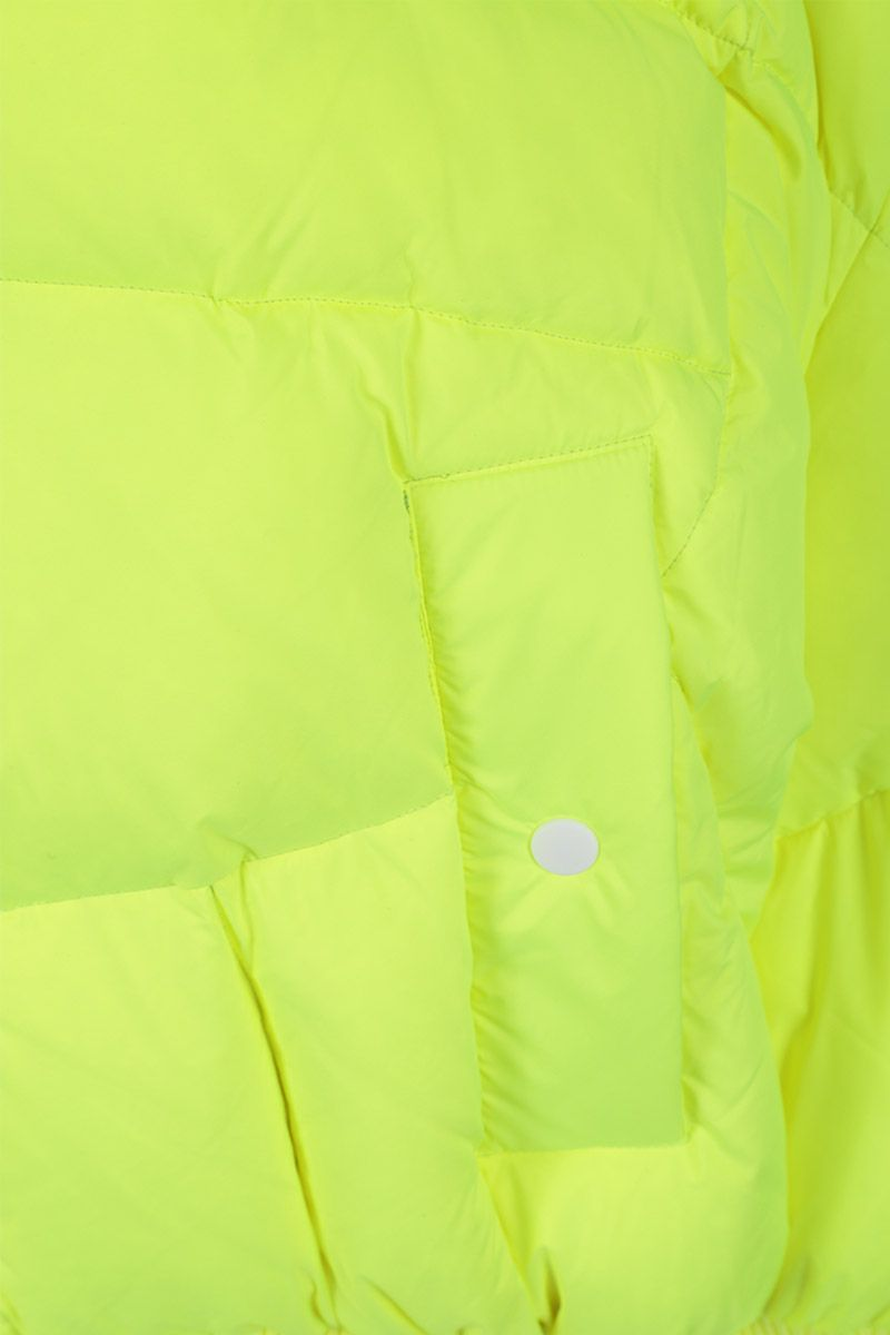 CHEN PENG: oversized down jacket in technical fabric Color Yellow_3