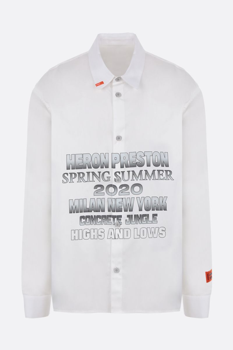 HERON PRESTON: printed cotton shirt Color Multicolor_1