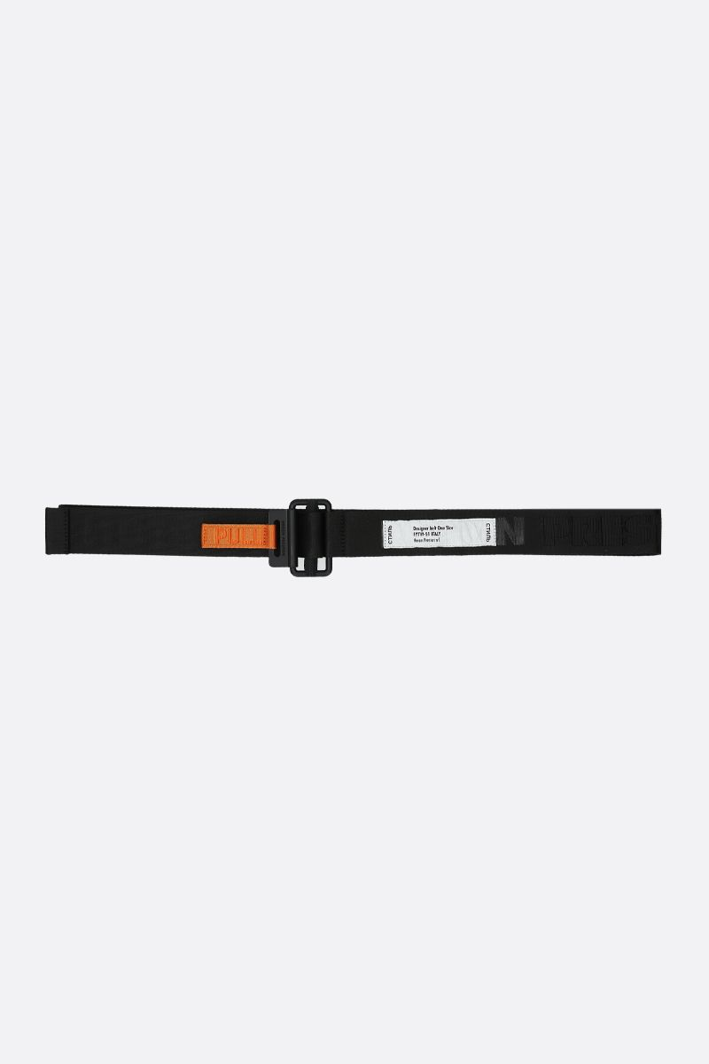 HERON PRESTON: heat logo tape belt Color Black_1