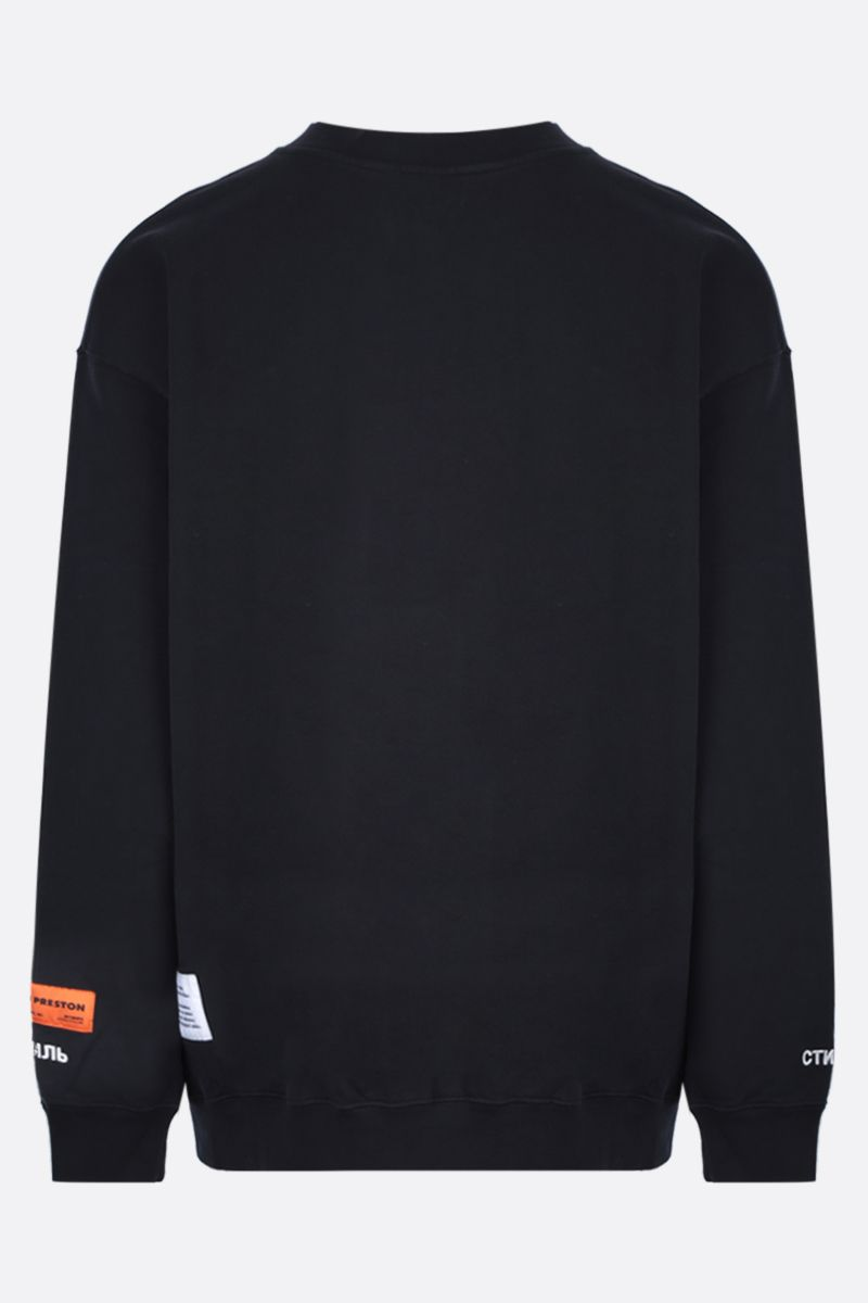 HERON PRESTON: Heron cotton oversized sweatshirt Color Multicolor_2