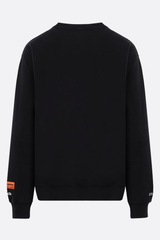 HERON PRESTON: Nightshift cotton sweatshirt Color Black_2