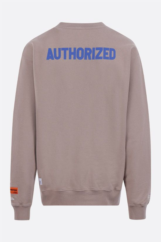 HERON PRESTON: A.F. cotton sweatshirt Color Brown_2