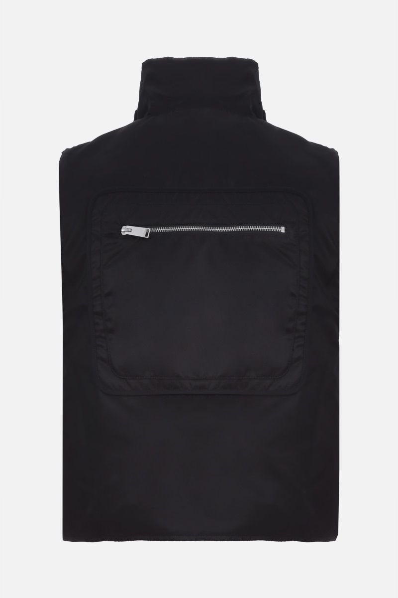 HERON PRESTON: logo patch nylon padded military vest Color Black_2