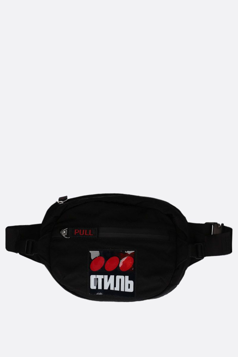 HERON PRESTON: CTNMB print nylon fanny pack Color Multicolor_1