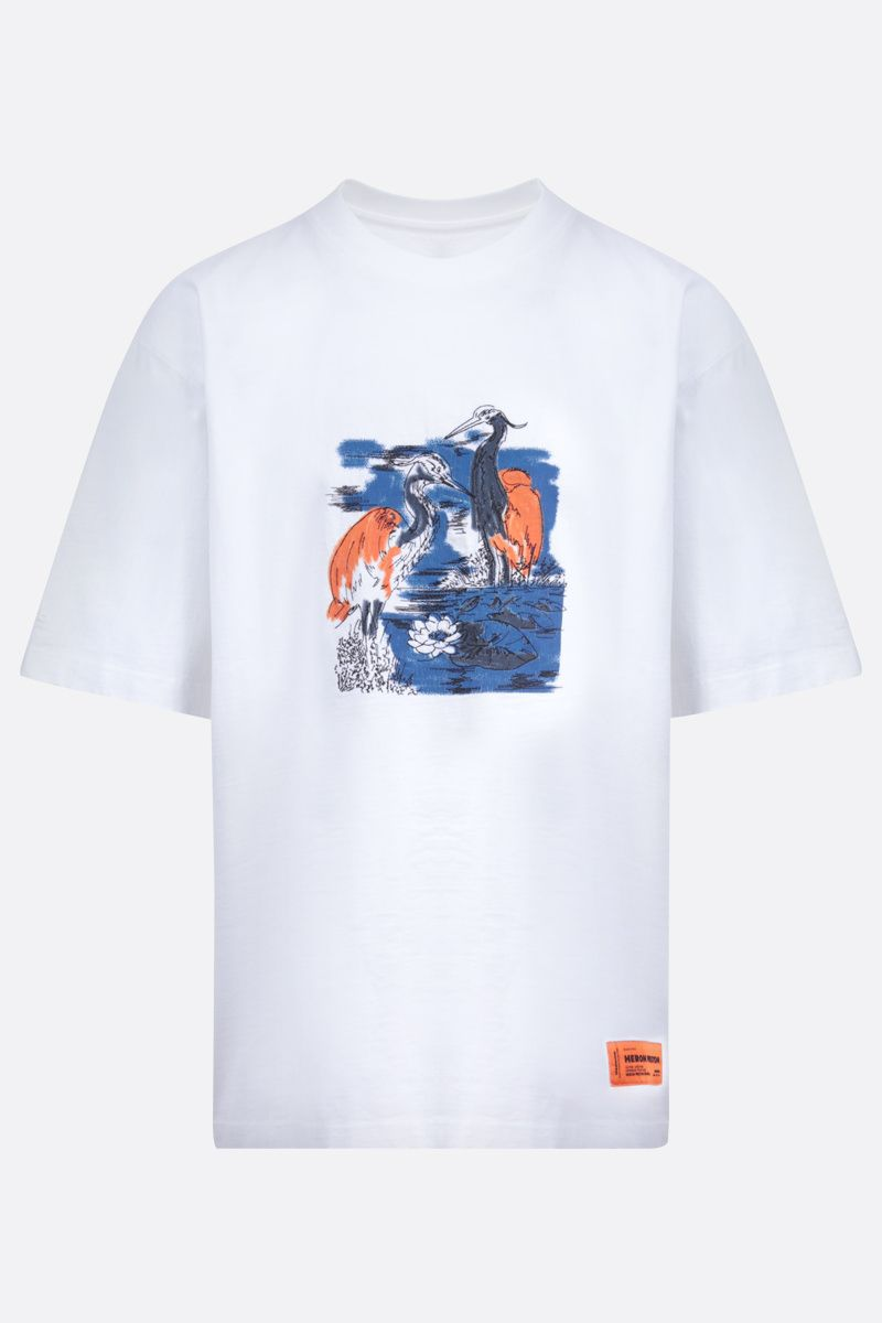 HERON PRESTON: graphic print cotton oversize t-shirt_1