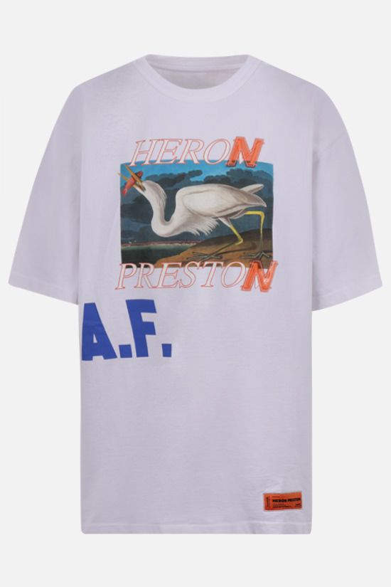 HERON PRESTON: A.F. oversize cotton t-shirt Color White_1