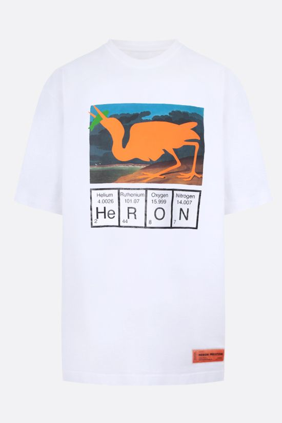 HERON PRESTON: Periodic Heron oversize cotton t-shirt Color White_1