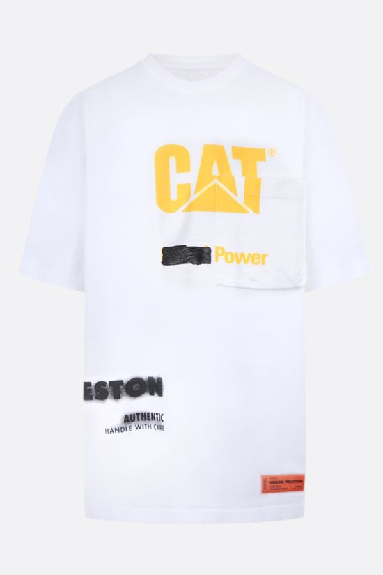 HERON PRESTON: HP x Caterpillar oversize cotton t-shirt Color White_1