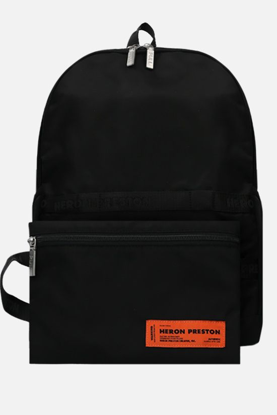 HERON PRESTON: logo-detailed nylon backpack Color Black_2