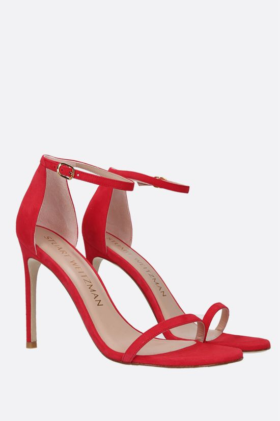 STUART WEITZMAN: Nudistsong suede sandals Color Red_2