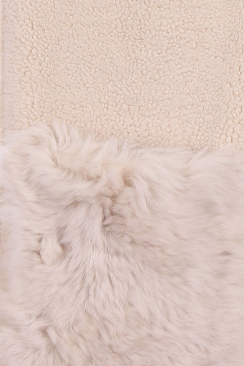 YVES SALOMON: soft shearling scarf Color White_4