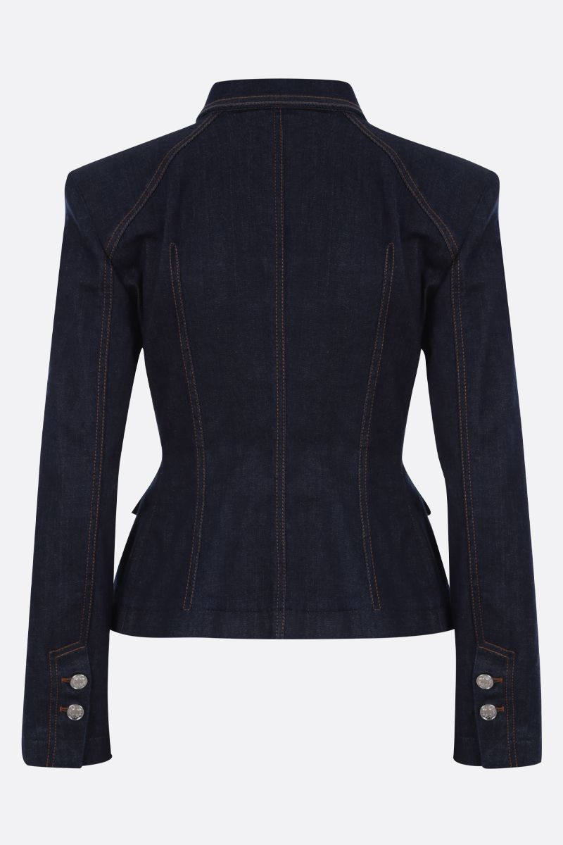 DOLCE & GABBANA: stretch denim tailored jacket Color Blue_2