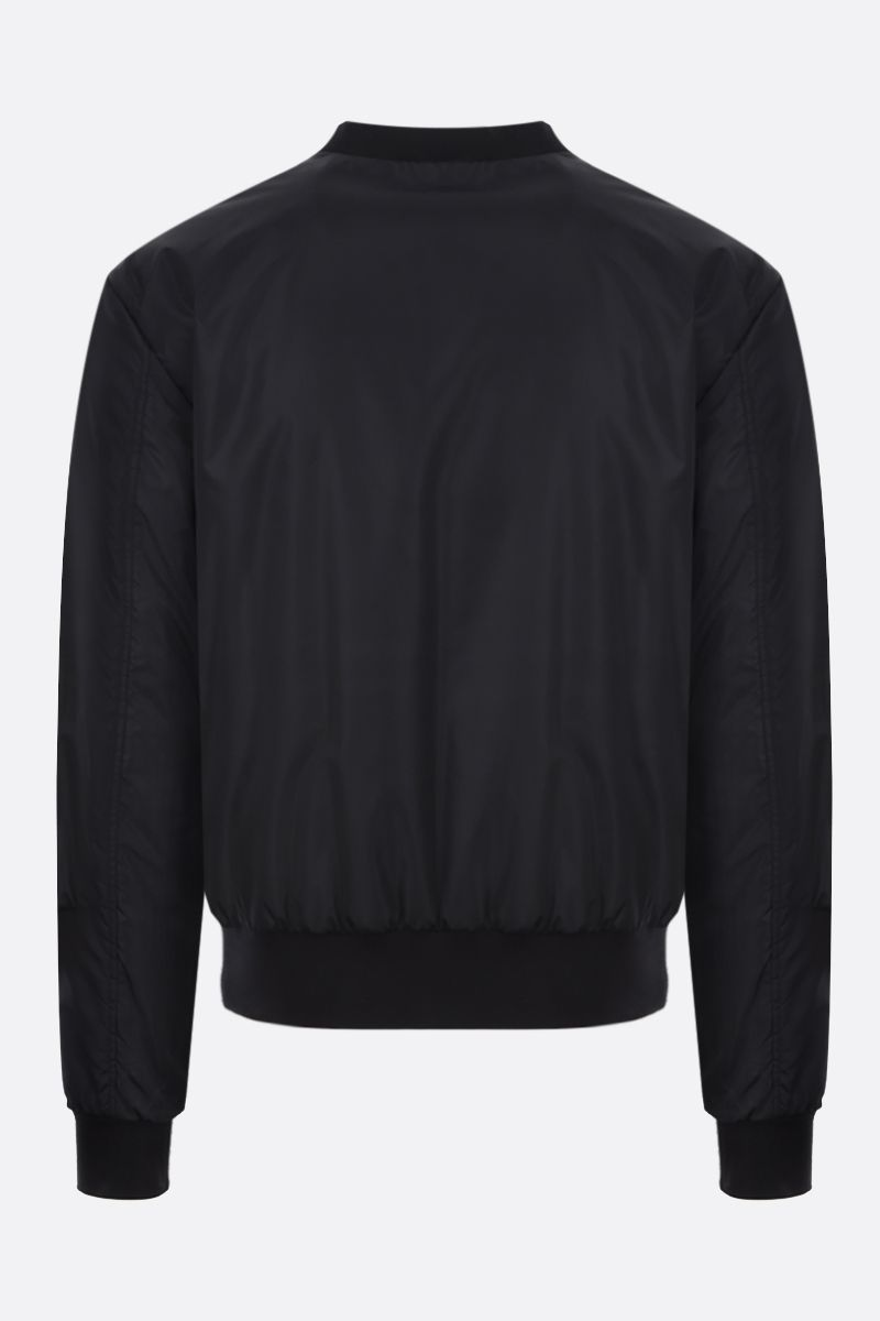 DOLCE & GABBANA: logo-detailed nylon padded bomber jacket Color Black_2