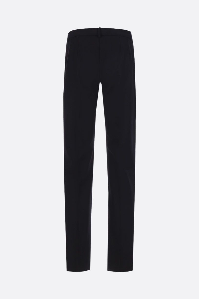 DOLCE & GABBANA: stretch wool cropped pants Color Black_2