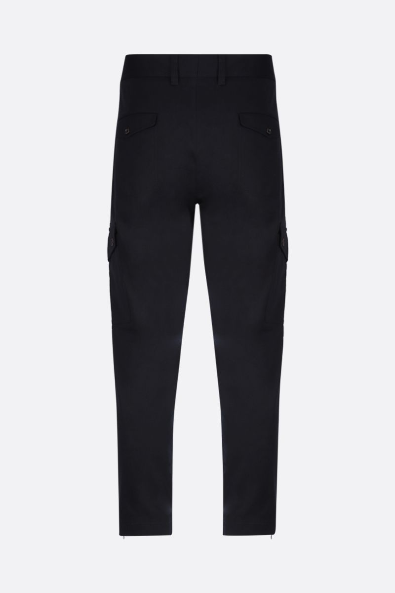 DOLCE & GABBANA: twill cargo pants Color Blue_2