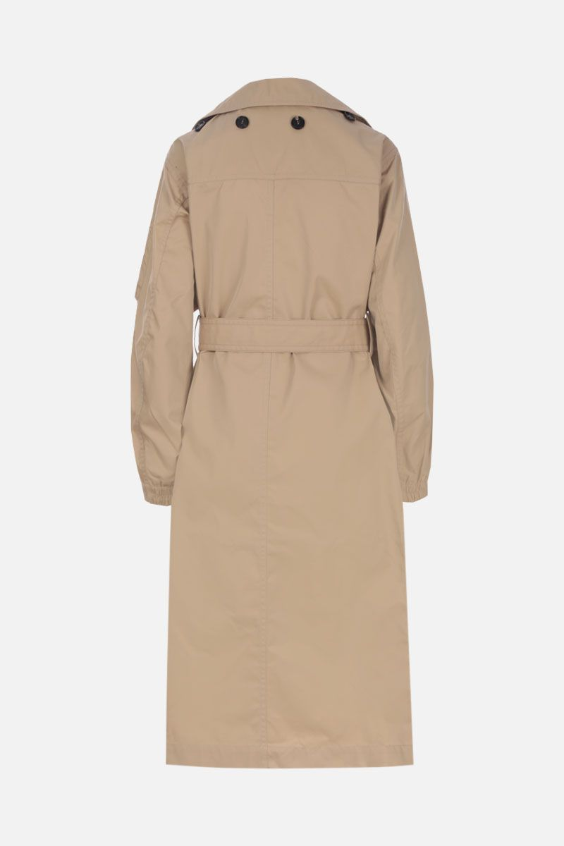 TRE by NATALIE RATABESI: technical cotton single-breasted trench coat Color Neutral_3