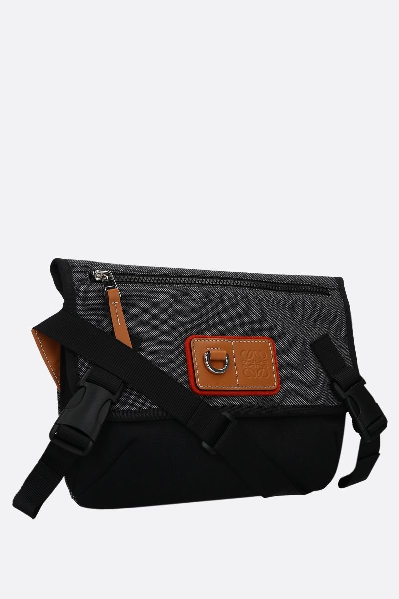 Eye/LOEWE/Nature: Eye/LOEWE/Nature small messenger bag in canvas Color Black_2