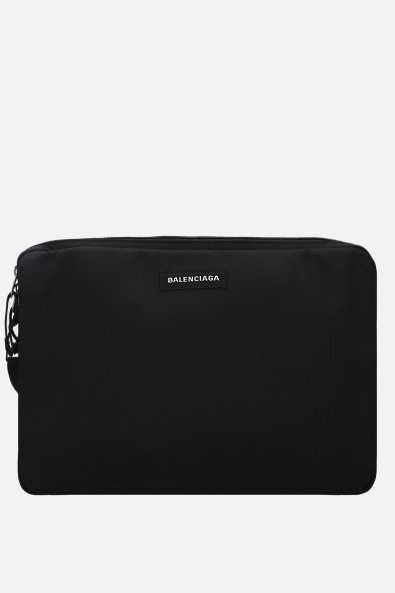BALENCIAGA: Explorer nylon pc holder Color Black_1