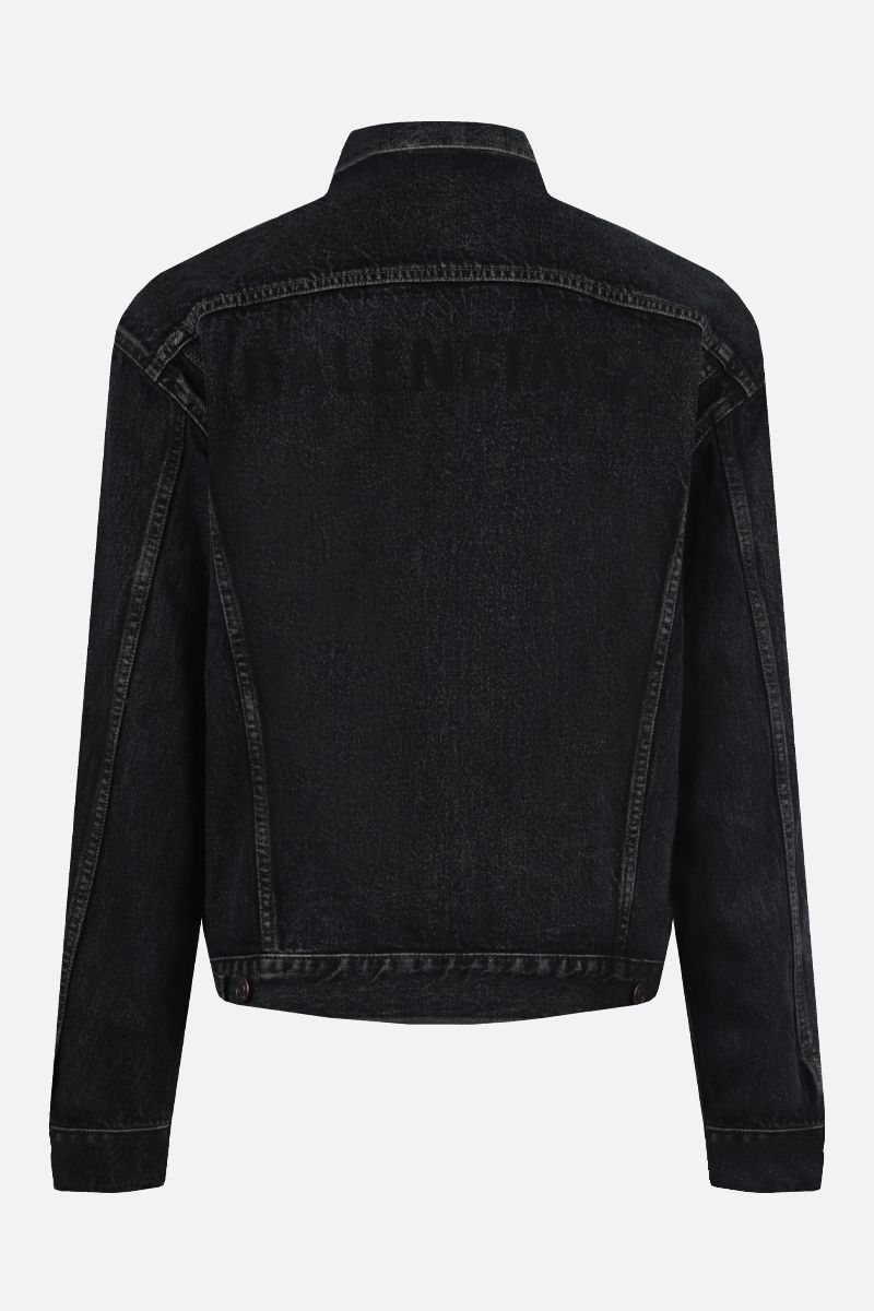 BALENCIAGA: Balenciaga oversized denim jacket_2