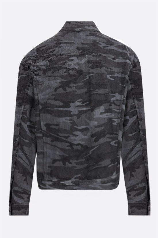 BALENCIAGA: camouflage print denim jacket Color Multicolor_2