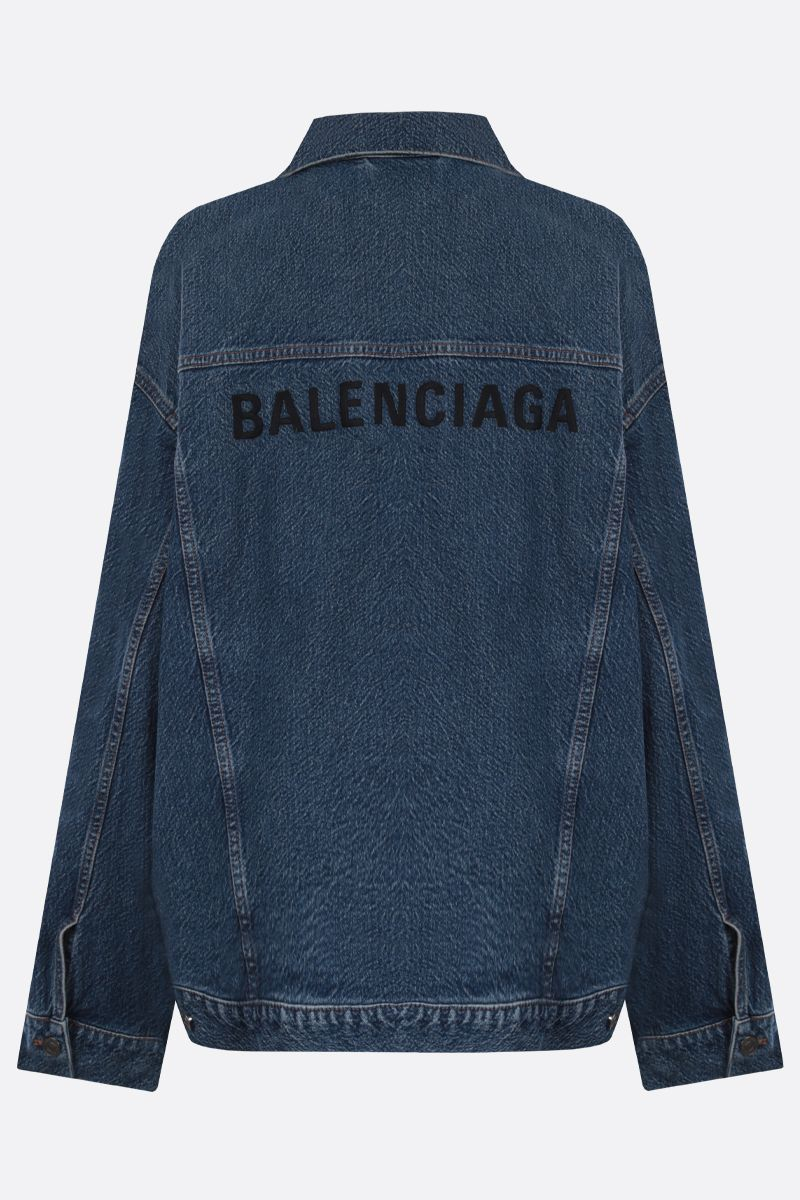 BALENCIAGA: Balenciaga embroidered oversize denim jacket_2